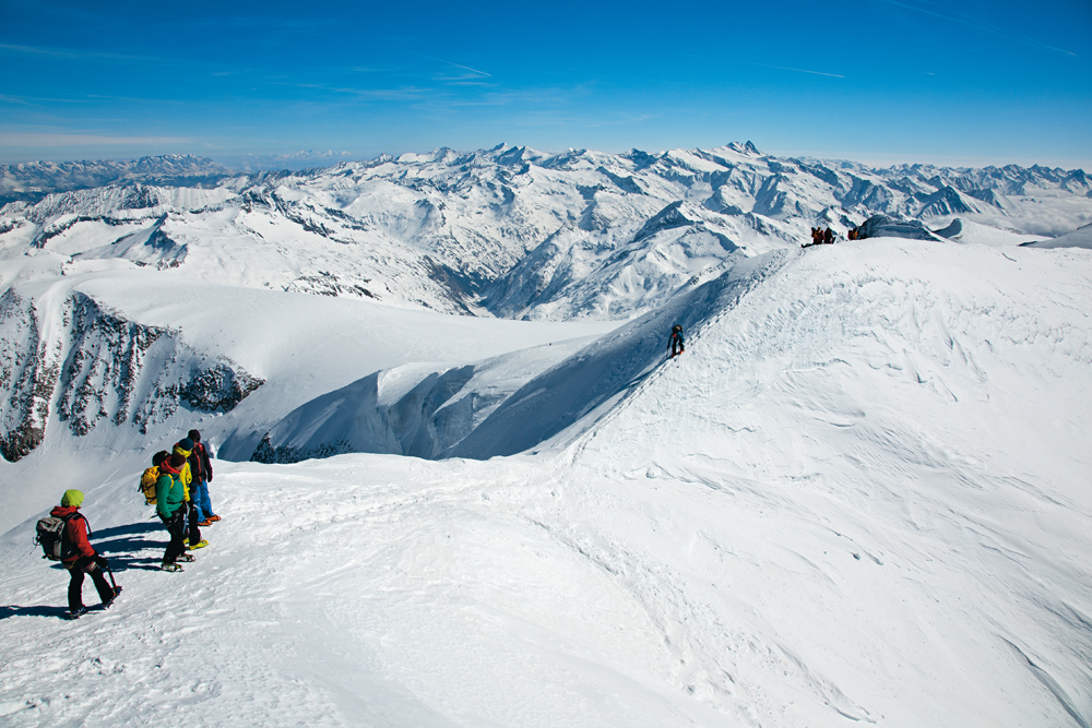 Hochtour auf dem Großvenediger - in Eis und Schnee unterwegs, ein Foto von Wolfgang Pusch