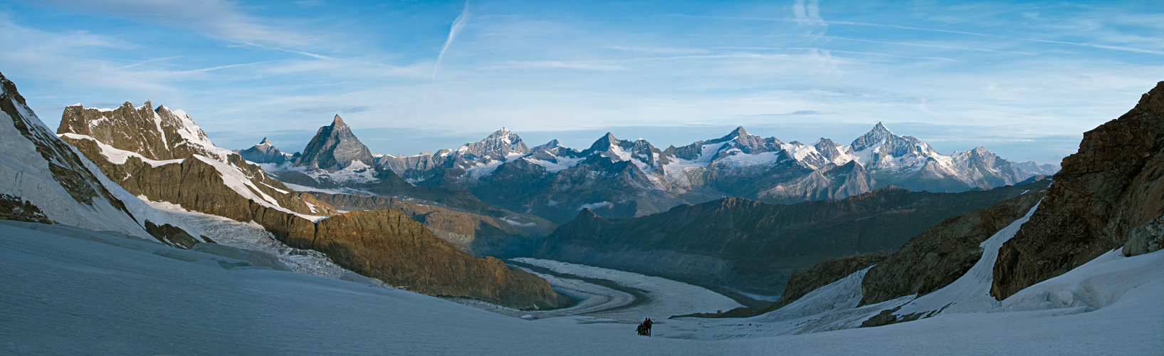 Alpenpanorama, Viertausender dicht an dicht, Foto Wolfgang Pusch